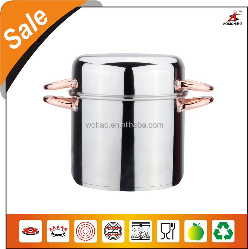 alibaba de stainless steel mussel pot with chrome plating handles