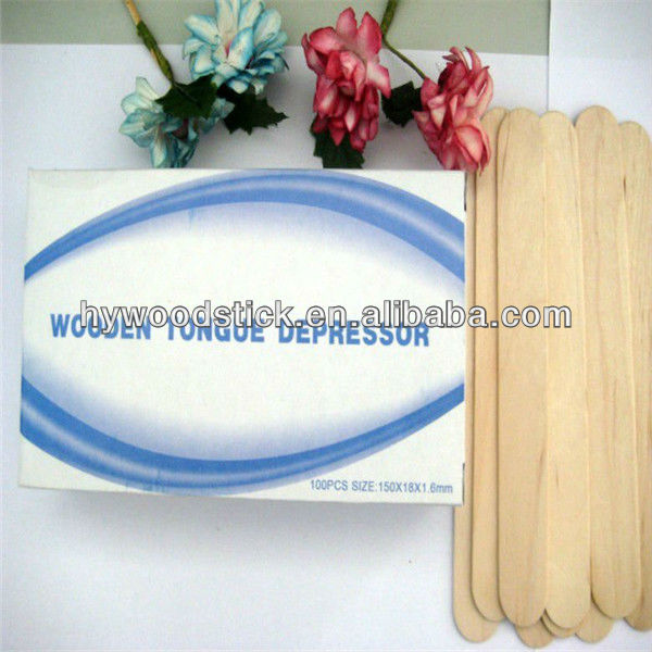 Disposable Wooden Tongue Sticks for Madical Use