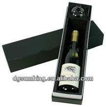 Customized wine glass bottles packing gift box