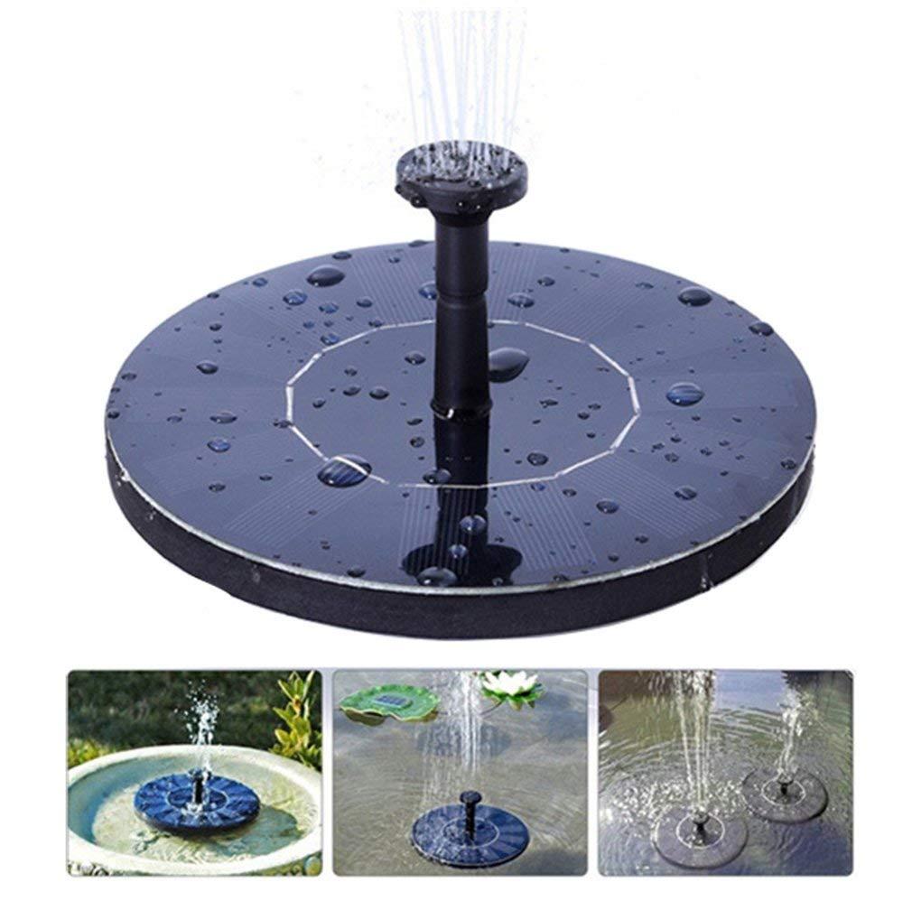 hiixhc Solar Fountain, Outdoors Solar Powered Bird Bath Fountain Pump 1.4W Solar Panel Kit Water Pump,Automatic Watering Submersible Pump for Pond, Aquarium, Pool, Garden, Fish Tank (Black)
