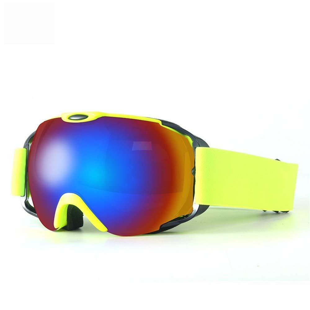 6c1a8a25cab4 Get Quotations · FRFG Ski Sports Sunglasses Ski Goggles Double Anti-Fog  Large Spherical ski Goggles Myopia
