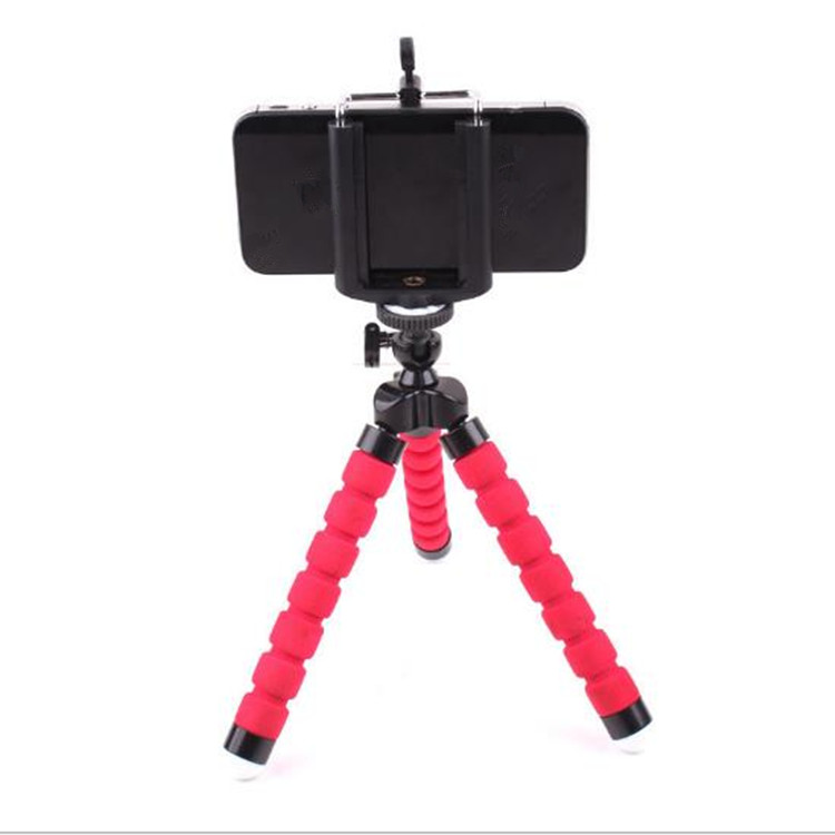 Phone tripod, Portable and Adjustable Camera Stand Holder Universal Clip, Compatible with iPhone, Android Phone, Sports Camera GoPro