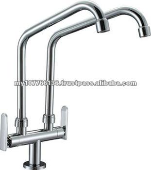 Double Spout Kitchen Sink Tap Fetone Tf 6 Dpsl Buy Kitchen