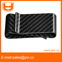 RFID Blocking Carbon Fiber Double Sided Money Clip Card Holder Wallet