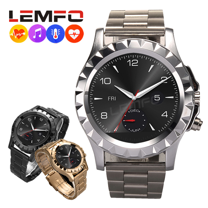 Lemfo Smart Watch for Android Bluetooth 3.0 Digital Smartwatch Wearable Devices Mp3 Player Bracelet Pedometer Fitness Tracker