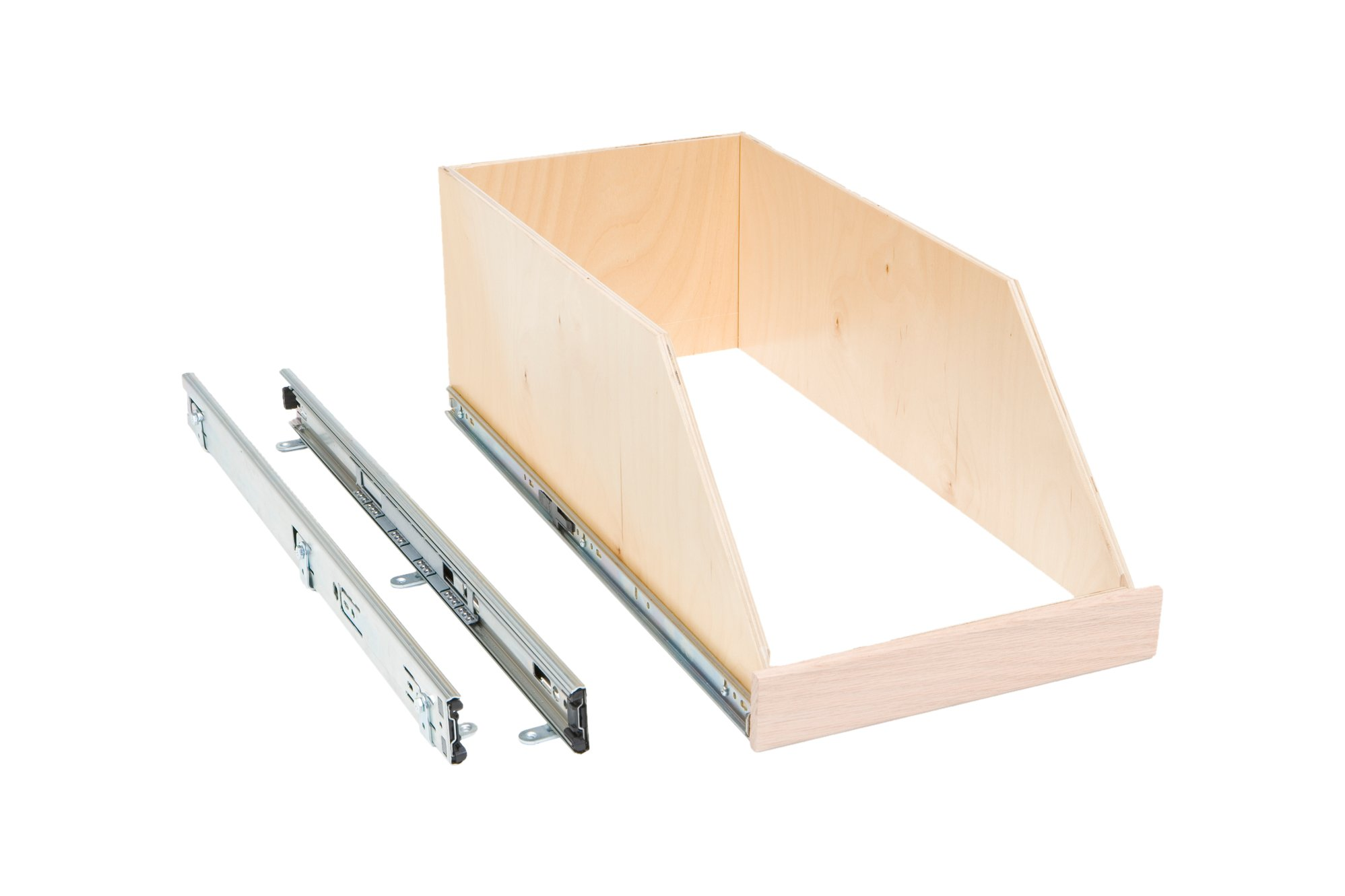 """Slide-A-Shelf AMC-PL-HSO-12W22D8H-F Baltic Birch 8"""" Sided Slide-Out Shelf with Full Extension, 12"""" x 22"""" x 8"""""""