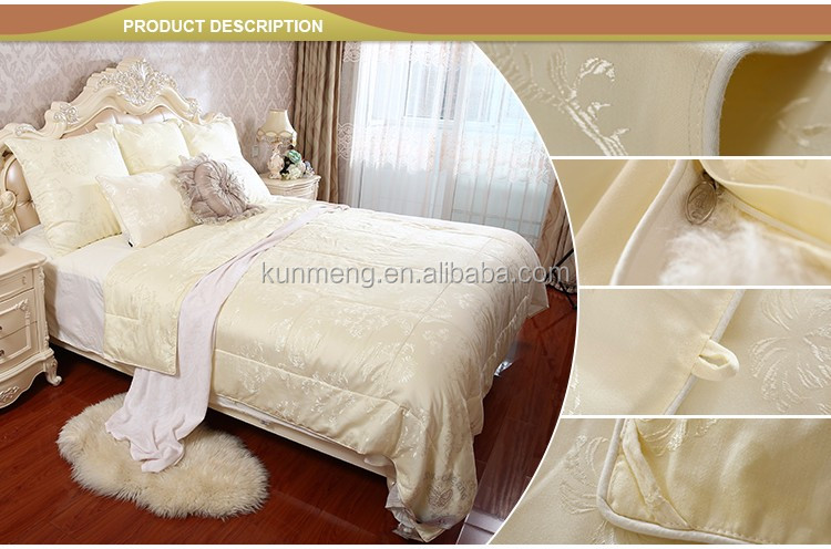 China Supplier super soft custom embroidery natural 100% suzhou king tussah silk duvet
