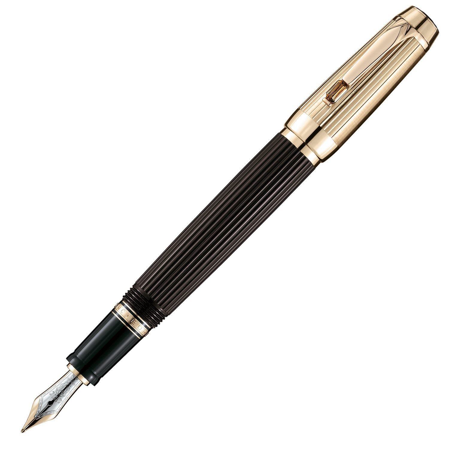 Montblanc Boheme Doue Ligne Fountain Pen with Synthetic Citrine Stone, 18k Retractable Nib 25538, 101994