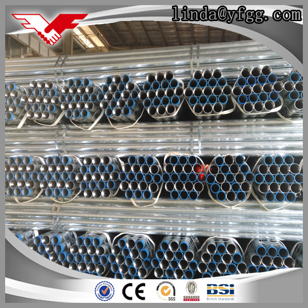 q195 q235 q345 external threaded thin wall steel tube with plastic cap