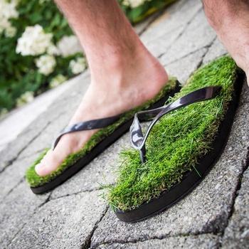 946b1bfca07 Women Men Kids Summer Casual Artificial Lawn Grass Slippers - Buy ...