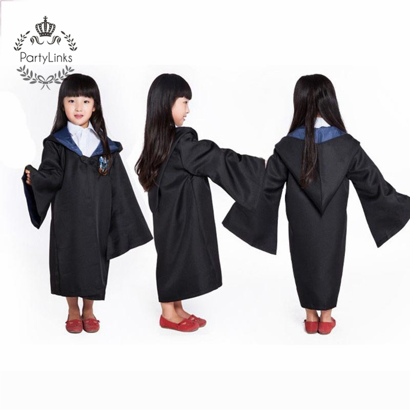 Adult Kids Harry Potter Hogwarts Cloak Robe Fancy Dress Cosplay Costume Film Set