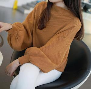 2017 New Winter Women Sweaters Fashion Turtleneck Batwing Sleeve Pullovers Loose Knitted Female Jumper Tops Sweaters