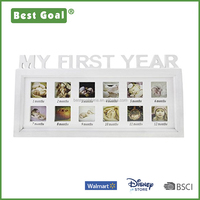 Collage Photo Frame Wall Hanging Desktop Decor Quality Wood Kids Picture Frame 12 Photos Moments Frame