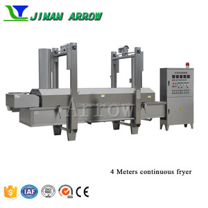 Automatic continuous frying machine potato chips fryer pellets fryer machine