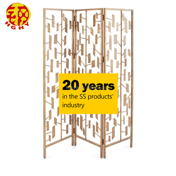 Stainless Steel Oriental Metal Wall Decor Residential Indian Folding Screen Paravent 2 Panel Room Divider Dividers