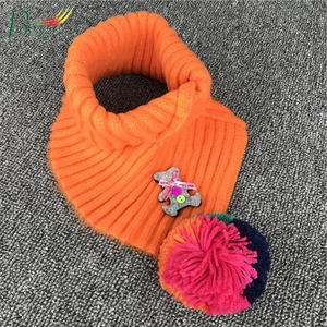 Wholesale Girls And Boys New Winter Warm Wool Wrap Knitted Muffler