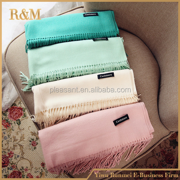 Scarves Cashmere Cape Surface Winter Warm Scarf Luxury Brand Pashmina Shawls Soft Female Tassel Cashmere Women Scarf