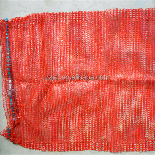 High performence 50x80 Red color white raschel mesh bag for potatoes and onions