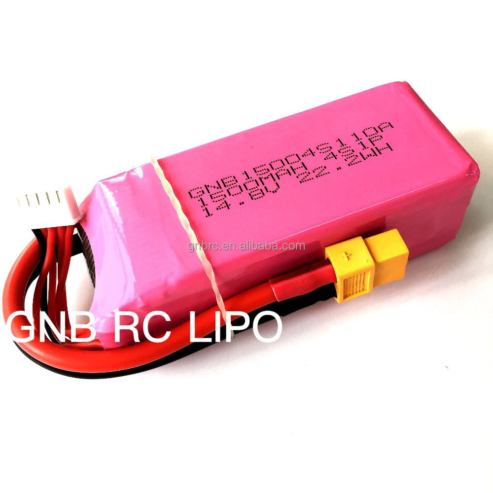 1500mah lipo battery 4s 95c 110c tattu/FPV OEM low IR long discharge time