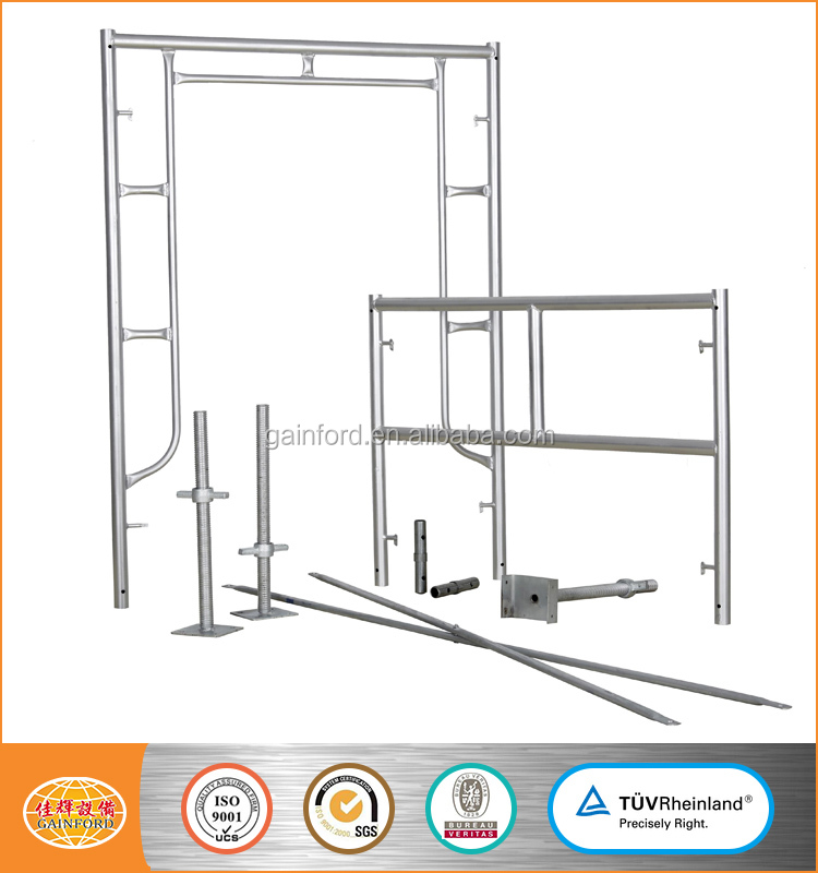 Hot dipped galvanized Mason Frame Ladder frame scaffolding for construction painted pre-galvanized frame