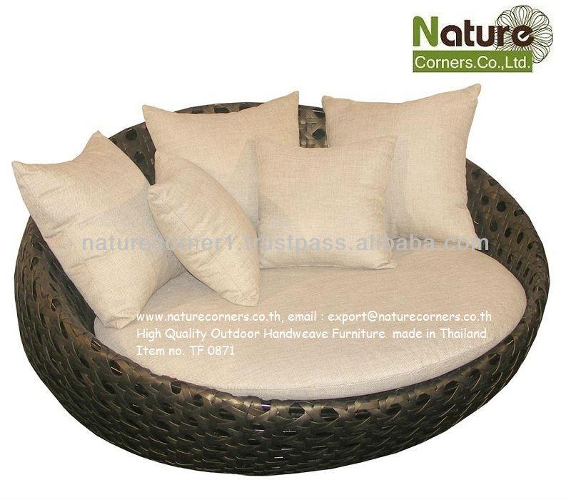 Round Sofa Beds Rattan Round Rocking Sofa Bed Outdoor