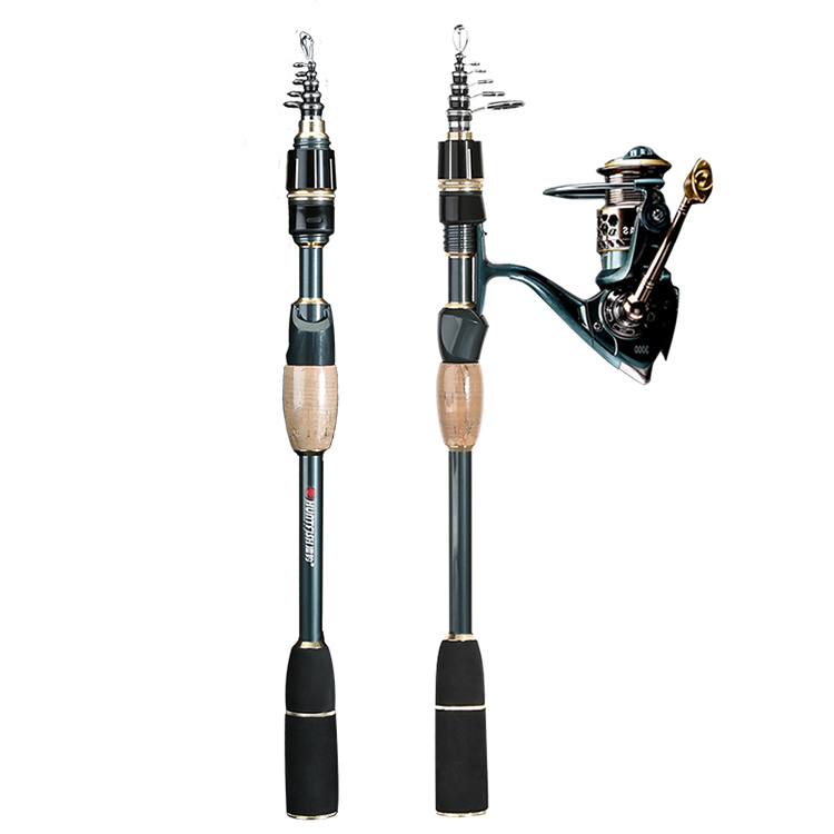 CEMREO 11+1BB MINI Spinning Carbon Fiber Fishing Rod and Reel Combo Set