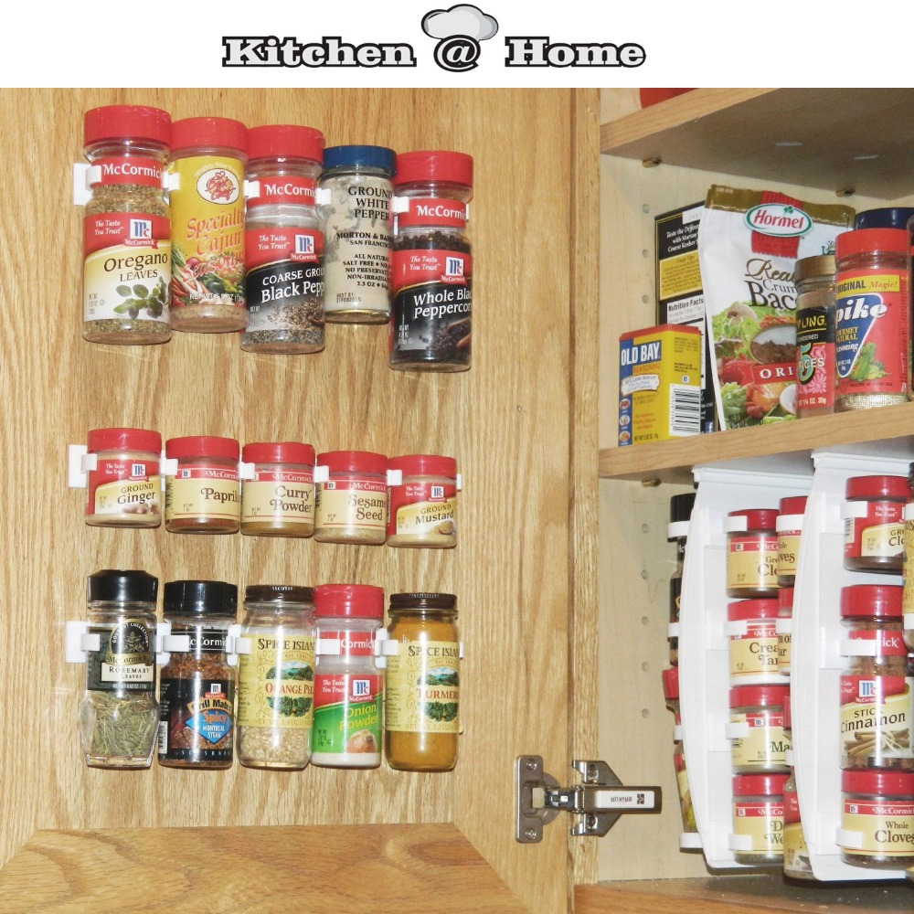 Plastic Spice Gripper Wall Rack Storage Holders,Flavoring ...