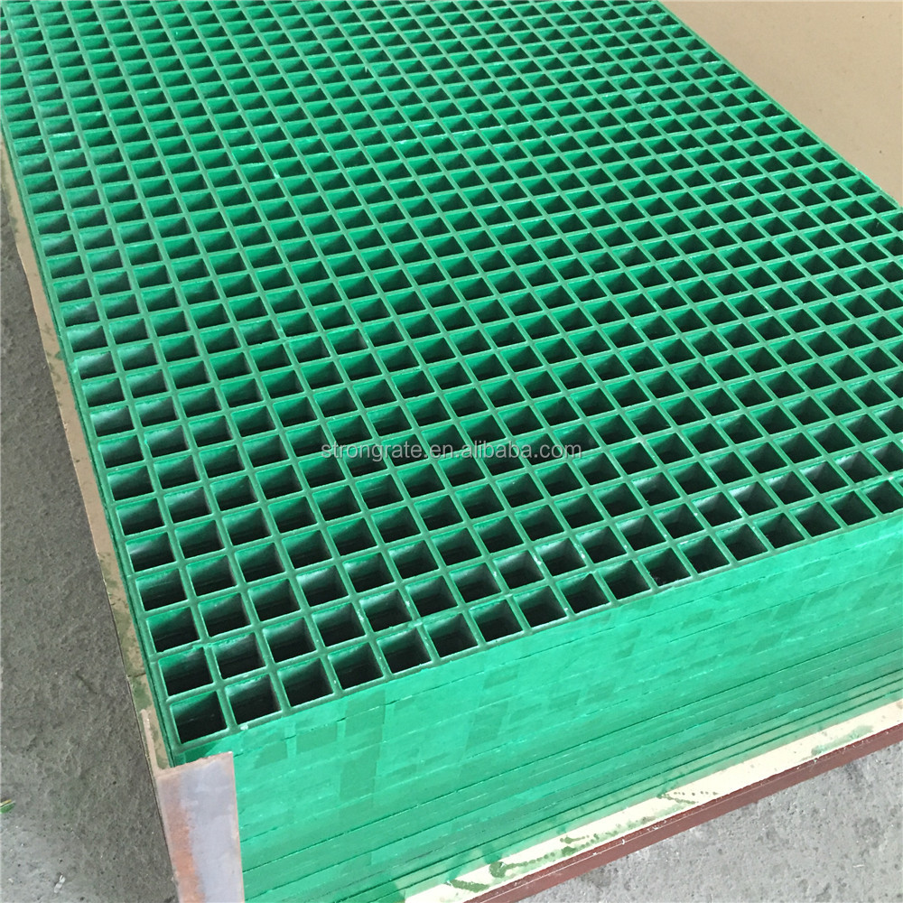 Nantong Frp Molded Grating With Concave Surface Green