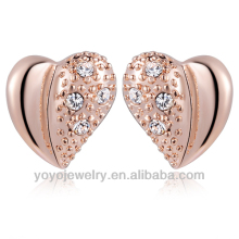 New model men ear stud 22k gold heart earring
