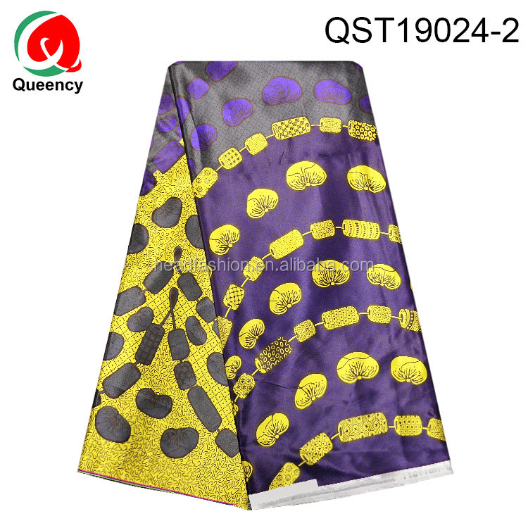 HF asoebi world African Ghana ankara silk satin fabric for bride african fabric