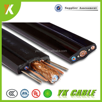 elevator cable for cctv camera flexible flat elevator cables