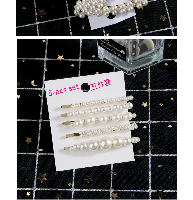 Multi Models Flower Pearl Beaded Hair Clips Set Women Hairpins With Pearls Hair Clip Set Gold Silver