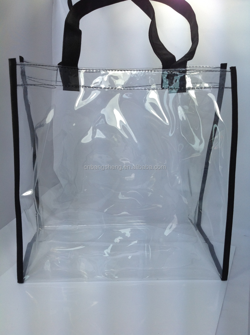 Transparent Clear Plastic Carry Bags,Pvc Shopping Bag - Buy Clear ...