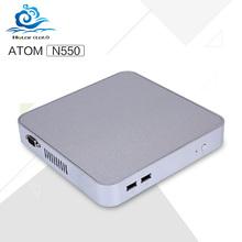 Freeship Micro computer Atom N550L 1.5Ghz 2G RAM  Mini pcs android windows xp 7 8 linux with hdmi+vga wifi