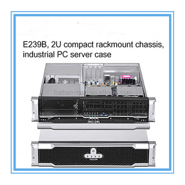 E239B,2U compact rack mount chassis,industrial PC server case