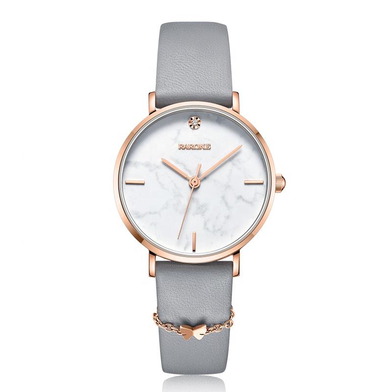 Rarone fashion genuine leather quartz women wrist watch lady wristwatches