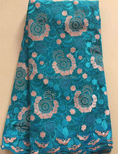lace african fabrics,teal,swiss cotton voile lace
