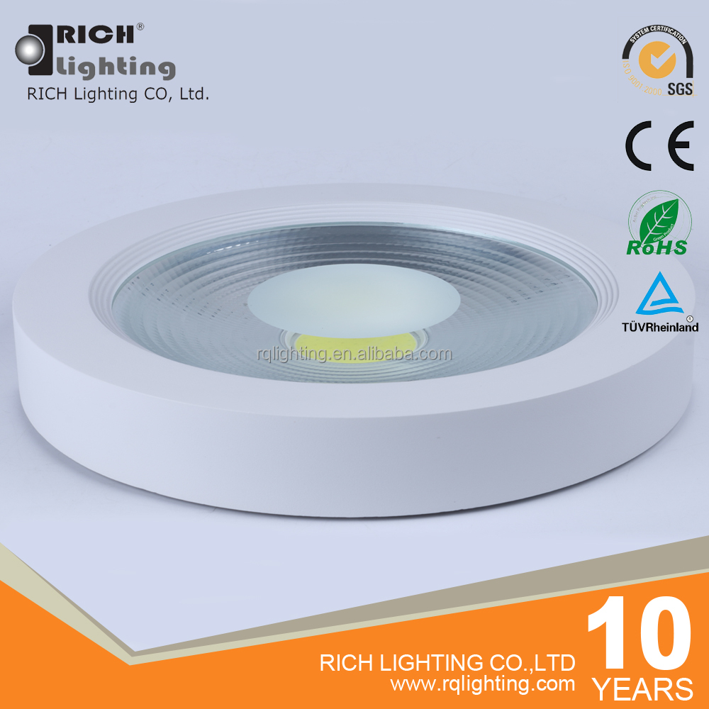 50W Surface Mounted Round White Led Ceiling Panel Light