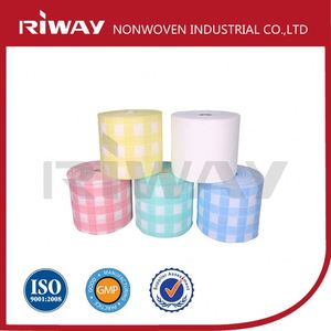 Rayon and PET Spunlace Nonwoven Fabric