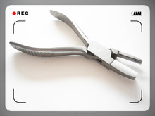 Changeable head plier for glasses repairing