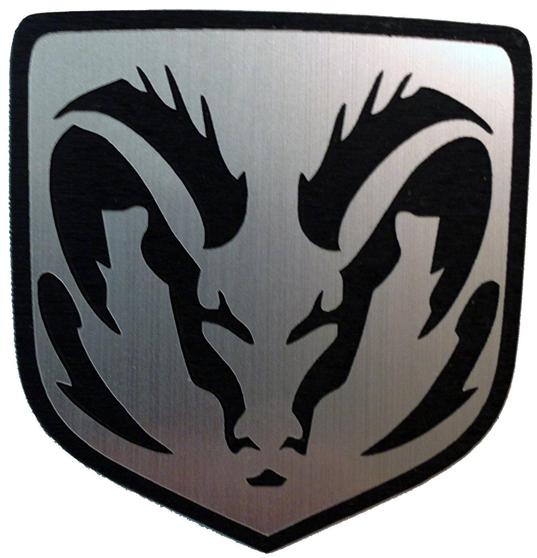 Dodge Caliber & Caliber Srt-4 Front Emblem Angry Ram Silver