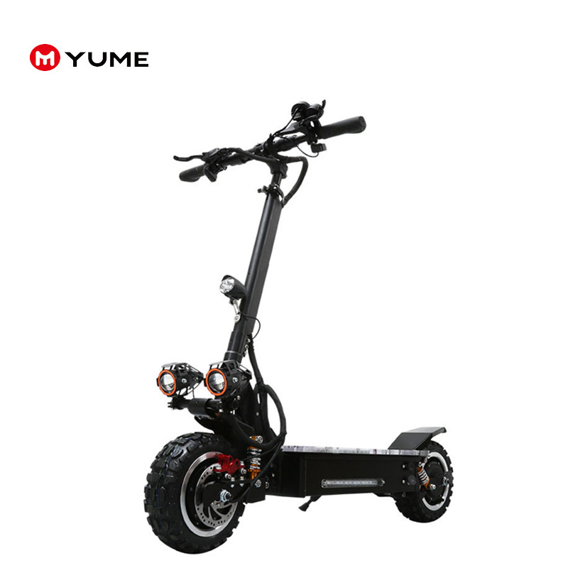Yume hot sale High quality11inch off-road tire 3200w 60v e scooter adult electronic scooter with removable seat foldable, Black