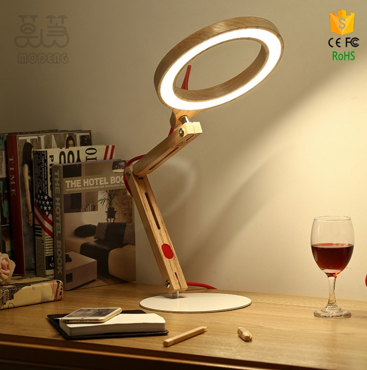 Handmade Wood Desk Lamps Office Lamp Simple And Modern