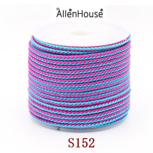 online shopping china factory direct Jewelry Findings & Components pink mix blue woven round straight stainless steel wire cord