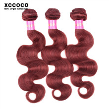 Masterpiece 100% Bresilienne 33# Red Human Hair Weaving Extensions