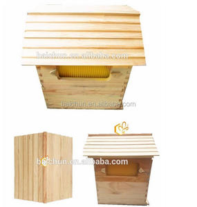 The cheapest wood flow bee hive +7pcs plastic flow frame+10pcs wooden brood box frame/complete flow hive