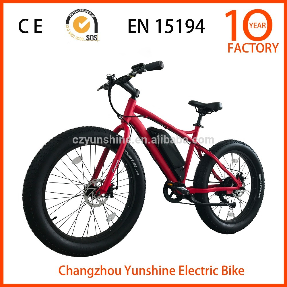 Changzhou Yunshine mountain fat tyre electric bike, electric bikes motor cross with stable quality