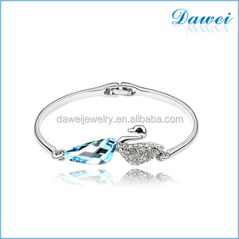 Fashion Gold Jewelry Design Patterns Bracelets Silver Swan Crystal