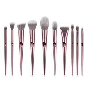 BUEART 2018 New Arrival 10 pcs James Charles pink brush cosmetics brush glitter make up brush