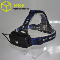 Three optional modes 4AA battery operated torch led head lamp